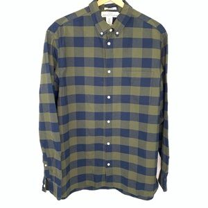 H&M LOGG flannel plaid shirt men's size XL